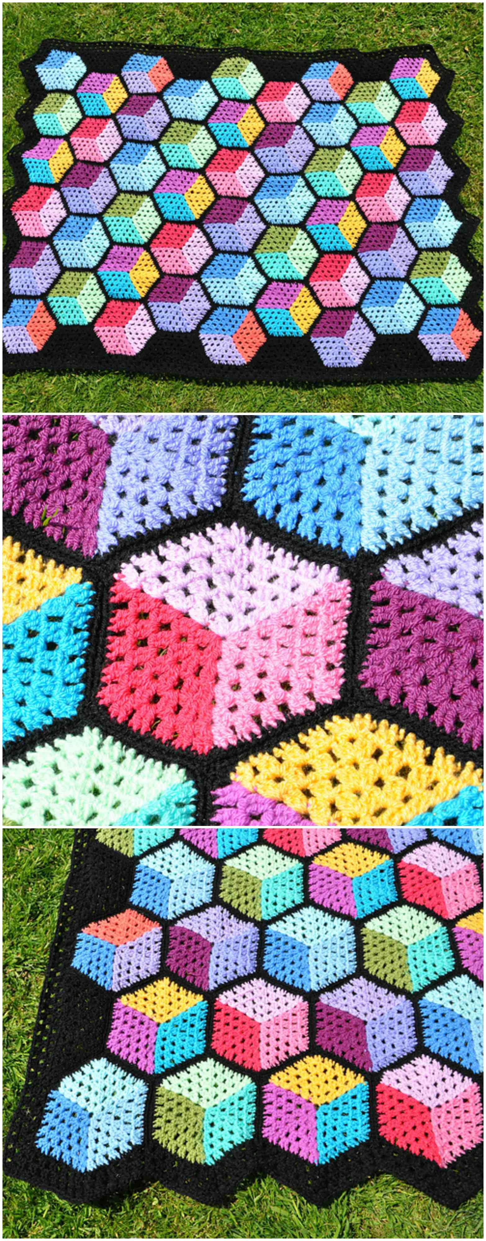 Tumbling Blocks Blanket Craft Ideas