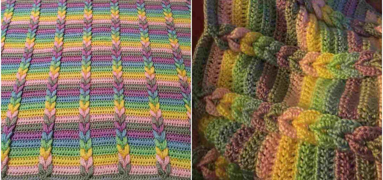 Resultado de imagem para Pulled Taffy Blanket Pattern