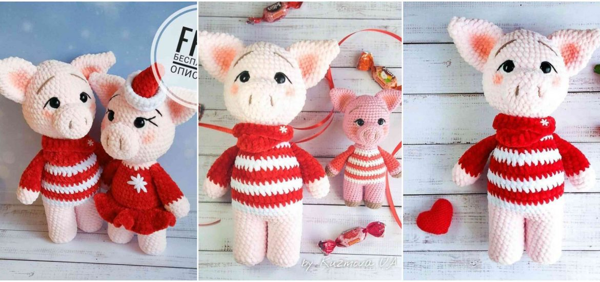 Ravelry: Amigurumi Little Pig pattern by HappyAmigurumi | 550x1170