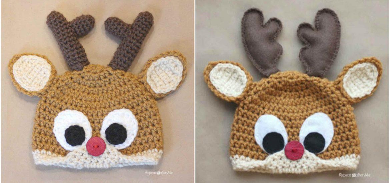 Crochet Reindeer Baby Hat Craft Ideas